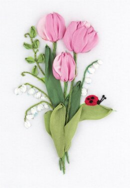 Panna The Gentleness of Spring Ribbon EmbroideryKit