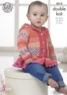 Baby Set in King Cole DK - 4313 - Downloadable PDF