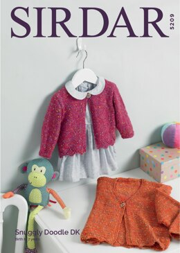 Girl's Cardigans in Sirdar Snuggly Doodle DK - 5209 - Downloadable PDF