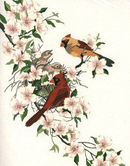 Dimensions Cardinals in Dogwood Crewel Embroidery Kit - 28 x 38 cm