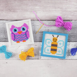 Trimits My First Cross Stitch Kit: Owl & Bee Designs -