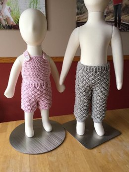 Diagonal Weave Baby Pants or Overalls