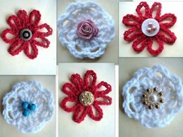 Easy Flower Applique | Crochet Pattern by Ashton11