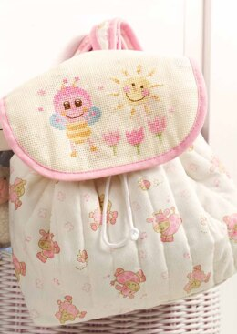 Friends Are Forever  - Cute Pink Bee Rucksack in Anchor - Downloadable PDF