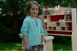 Girl's Cardigan in Schachenmayr Catania - S8911 - Downloadable PDF