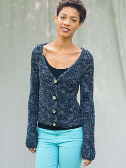 Clem Cardigan in Berroco Karma - Downloadable PDF