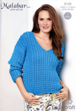 Cable Vest and Sweater in Stylecraft Malabar - 9143