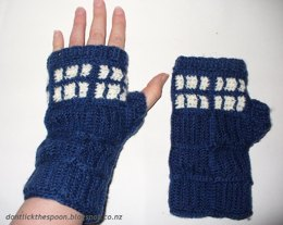 T.A.R.D.I.S. – Inspired Fingerless Gloves (Doctor Who)