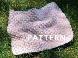Aster Flower Baby Blanket in Loopy Mango Dream - Downloadable PDF
