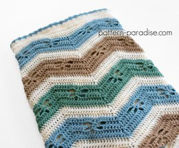 Dragonfly Chevron Blanket