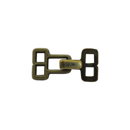 Brass Square Hook & Eye