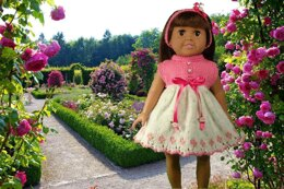 Easter Dresses, Knitting Patterns fit American Girl and other 18-Inch Dolls