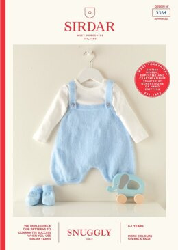Babies Romper and Bootees in Sirdar Snuggly 3 Ply - 5364 - Leaflet
