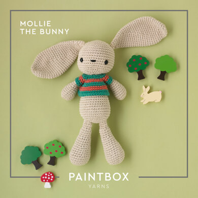 Mollie The Bunny: Toy Crochet Pattern for Kids in Paintbox Yarns Cotton Aran Yarn