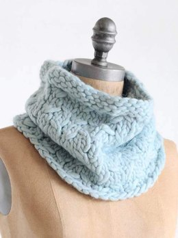 Frosty Cowl in Blue Sky Fibers - T12 - Downloadable PDF