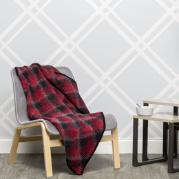 Buffalo Plaid Throw in Premier Yarns Everyday Plaid & Deborah Norville Everyday Soft Worsted Solids - Downloadable PDF