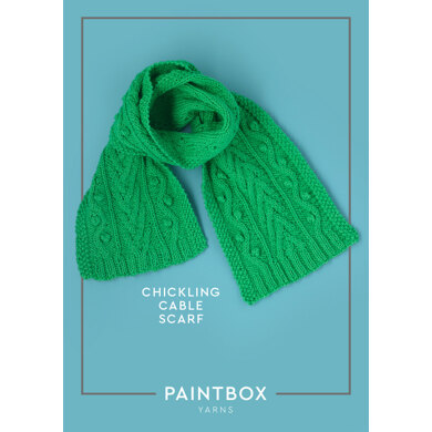 Chickling Cable Scarf : Scarf Knitting Pattern in Paintbox Yarns DK | Light Worsted Yarn