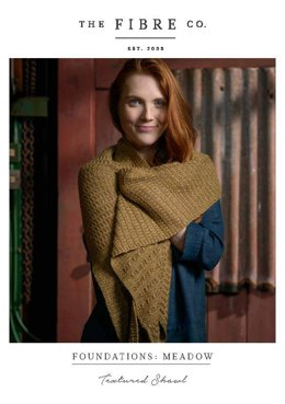 Textured Shawl in The Fibre Co. Meadow - Downloadable PDF