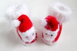 Santa Baby Booties and Mittens