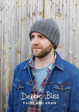 """Harrison Beanie"" - Beanie Knitting Pattern in Debbie Bliss Falkland Aran - DBS038"