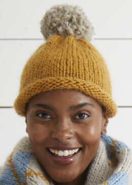 Anya Hat Pattern - Free Knitting Pattern For Women in Debbie Bliss Merion