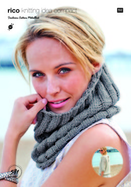 Jumper and Cowl in Rico Fashion Cotton Metallise - 581 - Leaflet