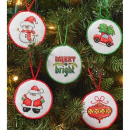 Bucilla Counted Cross Stitch Kit - Christmas Minis Ornaments (14 Count)