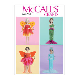 "McCall's Costumes For 11 1/2 Doll"" M7761 - Paper Pattern All Sizes In One Envelope"