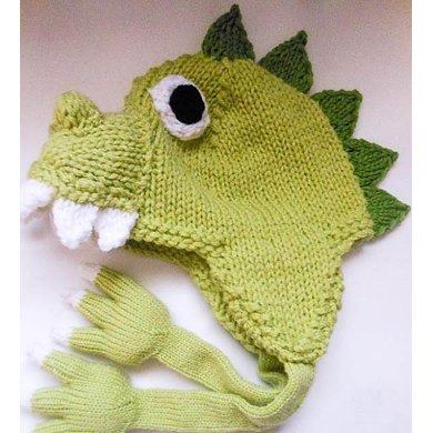 Dinosaur Dragon Hat Knit Knitting Pattern By Wistfully Woolen