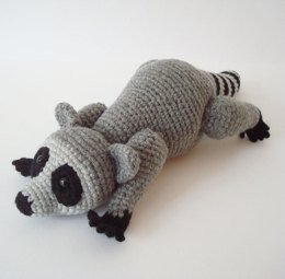 Raccoon Crochet Pattern with Movable Head and Legs by oohlookitsarabbit