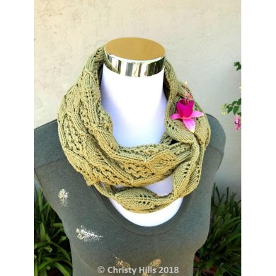 Leaves Strings Infinity Scarf Leafcottoninfinity Scarfcowl