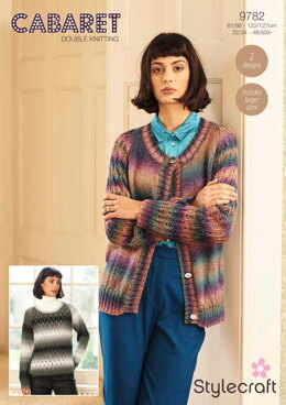 Cardigan and Jumper in Stylecraft Cabaret - 9782 - Downloadable PDF