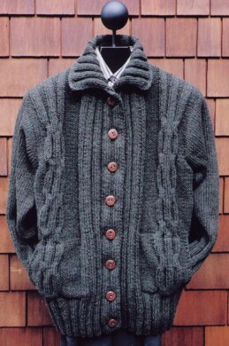 Ms 151 Cabled Coat Jacket Knitting Pattern By Mari Dembrow