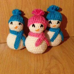 Palm-Sized Snowmen