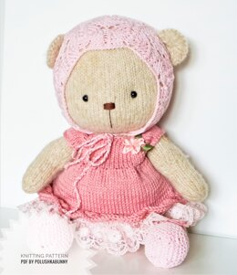 Doll Clothes - Teddy Shabby Chic Knitted Outfit
