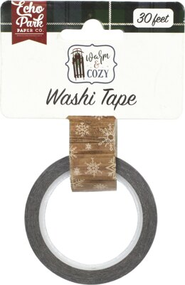 Echo Park Paper Echo Park Warm & Cozy Decorative Tape 30' - Winter Woodgrain