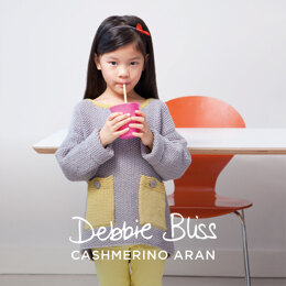 """Zoey Jumper"" - Jumper Knitting Pattern For Girls in Debbie Bliss Cashmerino Aran - DBS070"