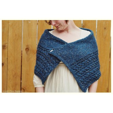 Cables and Lace Wrap