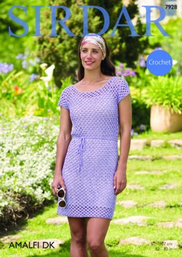Dress in Sirdar Amalfi DK - 7928 - Downloadable PDF