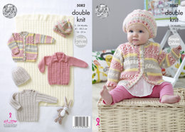Blanket, Sweater, Cardigans & Hats in King Cole Cherish & Cherished DK - 5082 - Leaflet