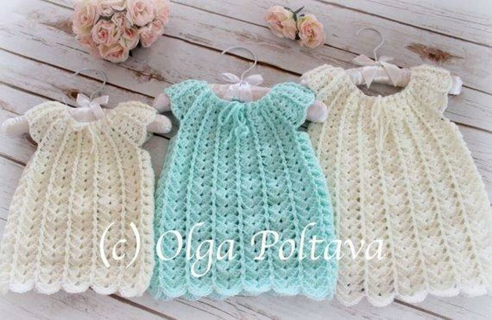 Shells Baby Dress Crochet Pattern By Olga Poltava