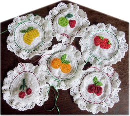 Fruit jam jar covers