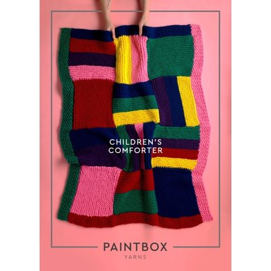 Children's Comforter : Knitting Pattern for Home in Paintbox Yarns Super Bulky | Super Chunky Yarn