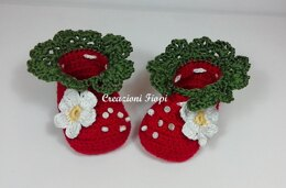 Strawberry baby shoes