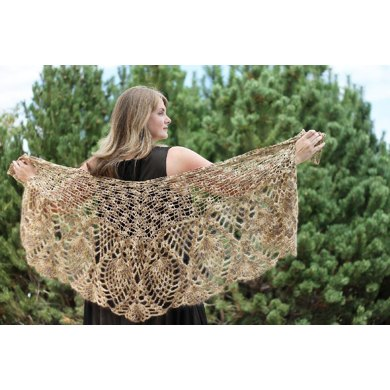 Peacock Feather Shawl