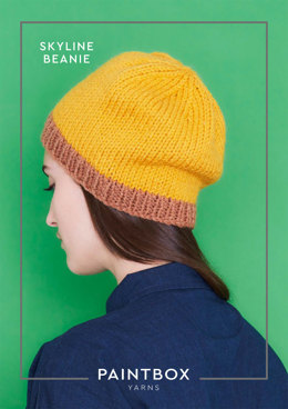 """Skyline Beanie"" - Beanie Knitting Pattern in Paintbox Yarns Simply Chunky"