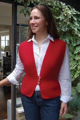 Three Button Vest to Knit