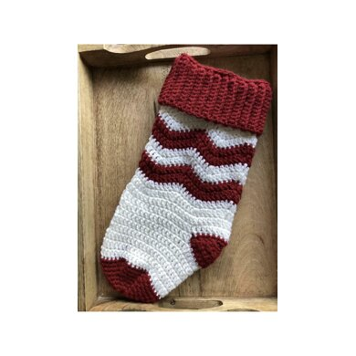 Holly Jolly Chevron Stocking