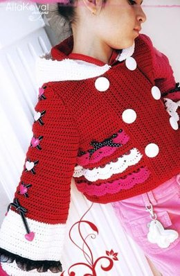 Valentine Crocheted Jacket