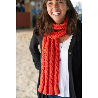 Double Eyelet & Cables Reversible Scarf